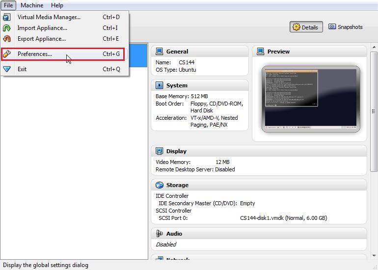 SSH Login to CS143 Virtual Machine