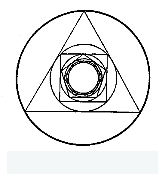 Triangle with Circle Inside Symbol